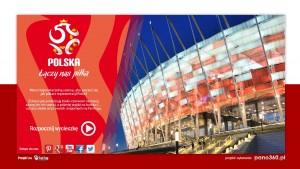 Gigapanorama z meczu Polska - Czarnogóra